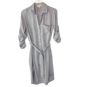 Cloth & Stone Belted Gray Shirt Dress Sz S